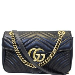 GUCCI GG MARMONT SMALL MATELASSE LEATHER